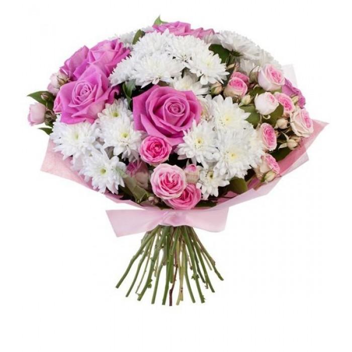 Как нарисовать букет цветов в вазе 17